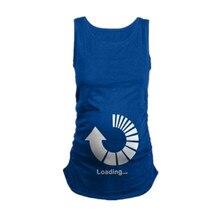 Pregnancy Women Shirt Sleeveless Christmas Baby Printed Tank Tops tshirt Pregnancy T-Shirt Pregnant Tee Shirts Clothing