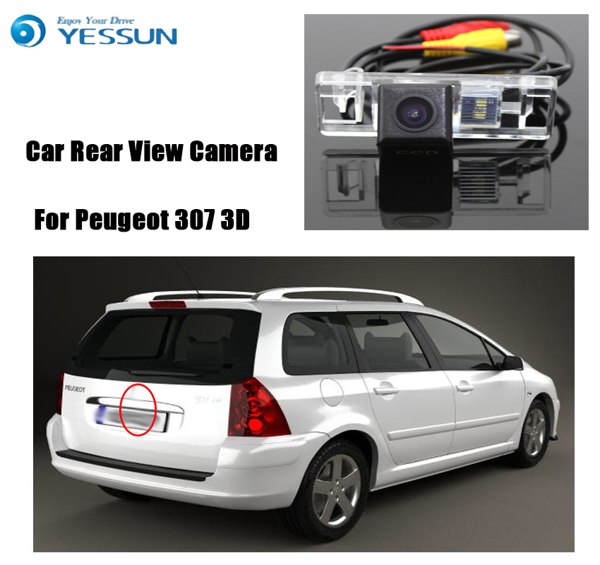 YESSUN For Peugeot 307 3D 5D Hatchback Reverse Camera HD CCD Night Vision Car Parking Backup Camera Rear View Hd Camera