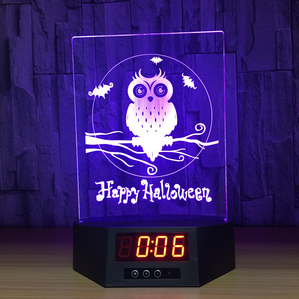 3D Acrylic Owl Nightlight Visual Led Night Lights Touch Remote Control For Home Bedside Night light for Child Gift USB Table Lam three dimensional 3d visual reading lights wood acrylic clear small lamp button type led stereo night light folding book lights