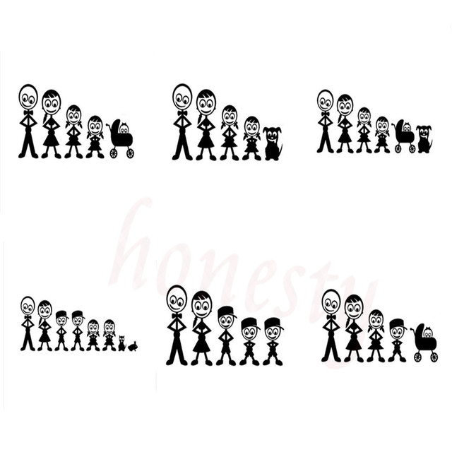 The Family Friendly Personalized Custom Car Stickers Waterproof - Custom vinyl stickers waterproof