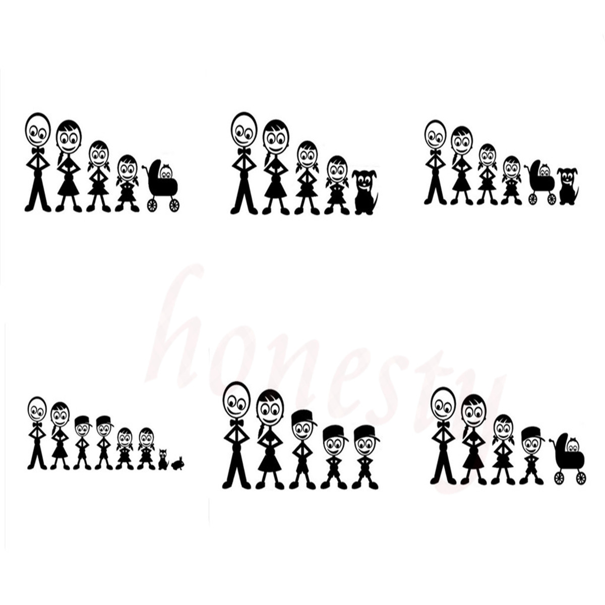 The Family Friendly Personalized Custom Car Stickers Waterproof Wall Home Glass Window Door Laptop Auto Truck Black Vinyl Decal
