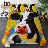 BeddingOutlet Milk Cow Bedding Colorful Bed Cover Set Pastel Painting Quilt Cover Animal Bedspreads Luxury Bedlinen Dropship