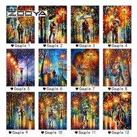 ZOOYA Lights Under The Couple Oil Painting Diamond Painting Diamond Embroider Full Diamond Mosaic Painting Rhinestones