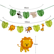 Omilut Safari Birthday Party Decoration Jungle Animals Banner Happy New Year Supplies Christmas