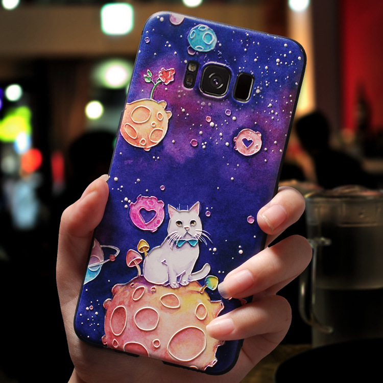 3D Cartoon Emboss Cases For Samsung Galaxy S10 S10E Plus J2 J3 J5 J7 Prime 2017 2016 J4 J6 J8 2018 2015 Neo Note 8 Case Soft TPU