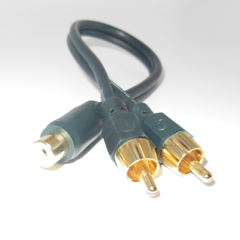 2 stück Auto Audio RCA Lautsprecherkabel Kabel Auto Styling 2 RCA ...