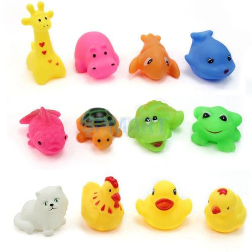 Practical 12pcs Children Kids Mixed Cute Animal Bathing Swimming Pool Toys
