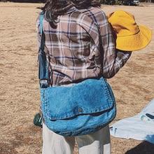 все цены на Fashion Vintage Jeans Flap Simple Denim Women Bags HandBags Crossbody Messenger Purse Shoulder Bag Big Purses Jeans Bag онлайн