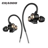 Dual Drivers HIFI In Ear Earphone DT20 Earbuds Universial Earhook Headset For Sport Running Xiaomi Earpods