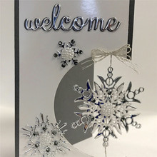 Naifumodo Snowflake Metal Cutting Dies Scrapbooking Merry Christmas for Card DIY Album Making Paper Frame Craft New Arrival