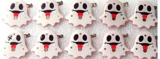 Cooperative New 25pcs/set Popular Halloween Ghost Led Brooch Button Pin Party Favors Puzzle Toy Children Gift Superior Performance Jewelry Sets & More