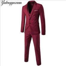 2017 Vente Costumes Terno Rétro Gentleman Style D'affaires Personnalisé Sur Mesure Costume Blazer Robe Plus La Taille des Hommes 3 Pièce Veste + pantalon + gilet