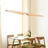 Nordic ресторан деревянные подвесные светильники светодиодный полосы света подвесной светильник японский офис творческая личность ya881