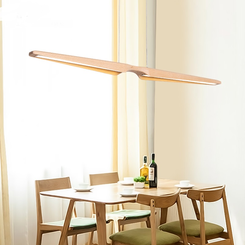 все цены на Nordic restaurant wooden Pendant Lights LED strip light Pendant lamp Japanese office creative personality ya881 онлайн