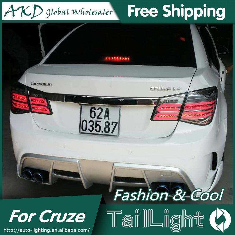 AKD Styling for Chevrolet Cruze Tail Lights New Cruze Sedan LED Tail Light GLK LED Rear Lamp DRL+Brake+Park+Signal