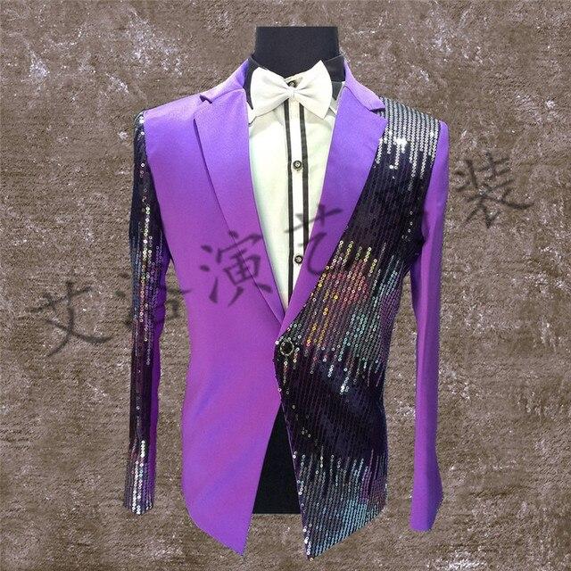 Новый ночной клуб певец костюмы блестки небольшой костюм Вечерний бар этап одежда личность настройки