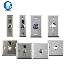 Bouton de sortie de porte en acier inoxydable bouton poussoir pour ouvrir le bouton de libération à la maison avec lumière LED pour le système de verrouillage de contrôle d'accès NO/COM