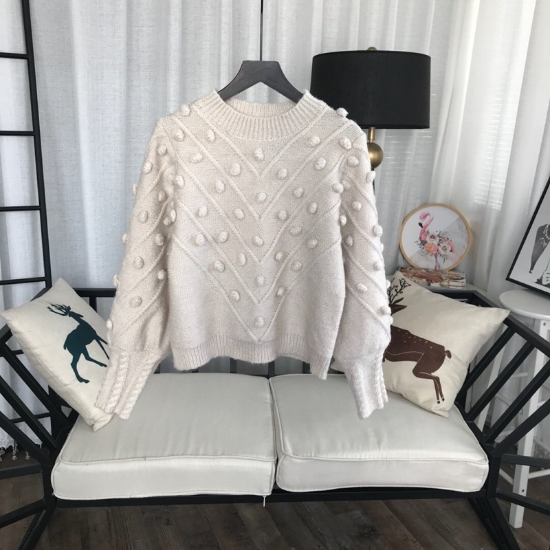 2018 hiver mode doux Wihte Pull pulls femmes piste à manches longues perles Femme Pull Pull Pull automne casual vêtements