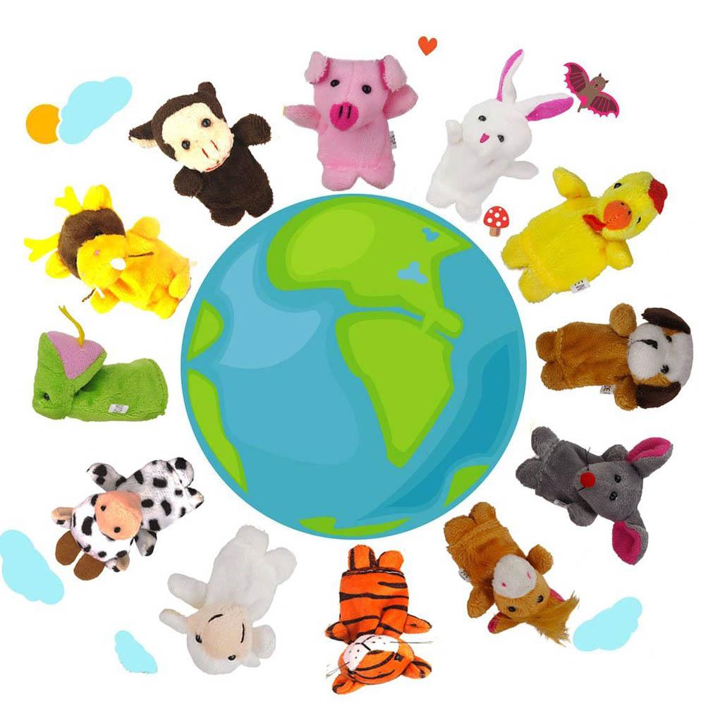 12pcs / set models even stuffed animal zodiac animals finger means even the 12 zodiac animals finger even brinquedos