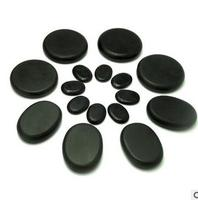 16pcs /set Massage hot stones massage lava Natural stone set hot spa rock basalt stone with heater box