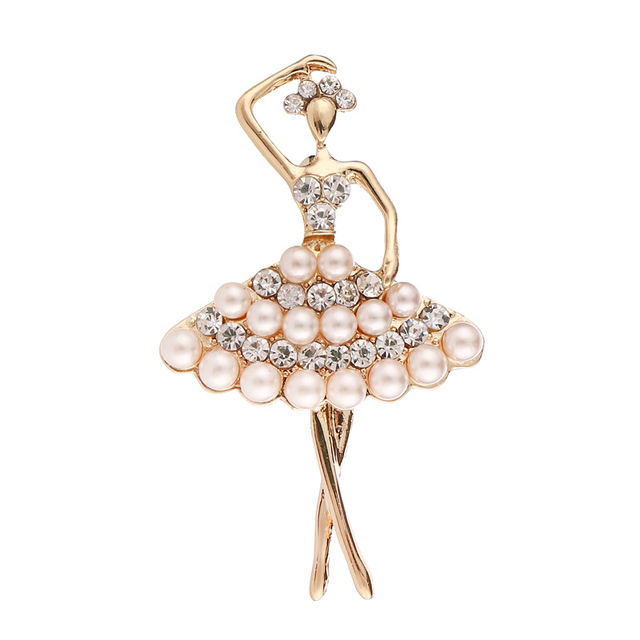 Ballet Fairy Pearl Brooches...