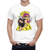 Poker Bikini Sexy Woman Summer Fashion Printed T Shirt Men/Women Cotton Short Sleeve T shirts Cool Tees Tops E4