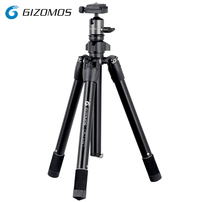GIZOMOS G-148 Lightweight Mini Tabletop Tripod Kit For DSLR Digital Camera Mirrorless Camera Smartphone With Arca Swiss Ball