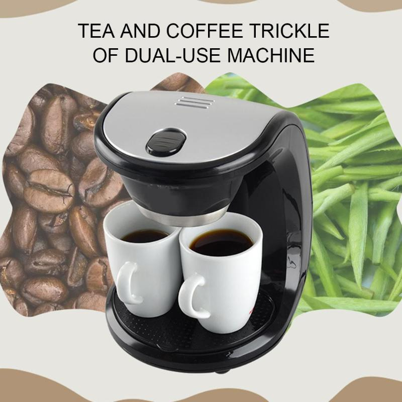 2 Cups Drip Coffee Makers Electric Automatic Espresso Coffee Machine for Home Cafe Bar Coffee Pot Coffee Maker Machine coffee purifying tablets tablets for a coffee machine automatic coffee machine cleaning coffee machine 9pcs pack