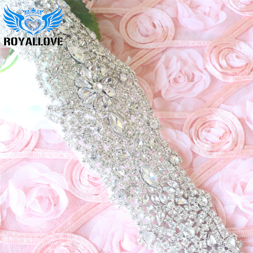 Heavy large Rhinestone bodice applique crystal applique crystal bodice  applique for wedding dress bb3a391bf98e
