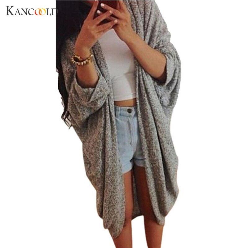 2018 Autumn Winter Hot Sale Cardigan Women Long Cardigan Female Sweaters Long Sleeve Asymmetrical Solid Knit Sweaters JY143