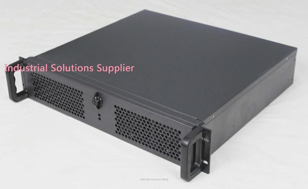 NEW Ultra-short 2u computer case full open door black 4 plate pc power supply 2u server short box computer case