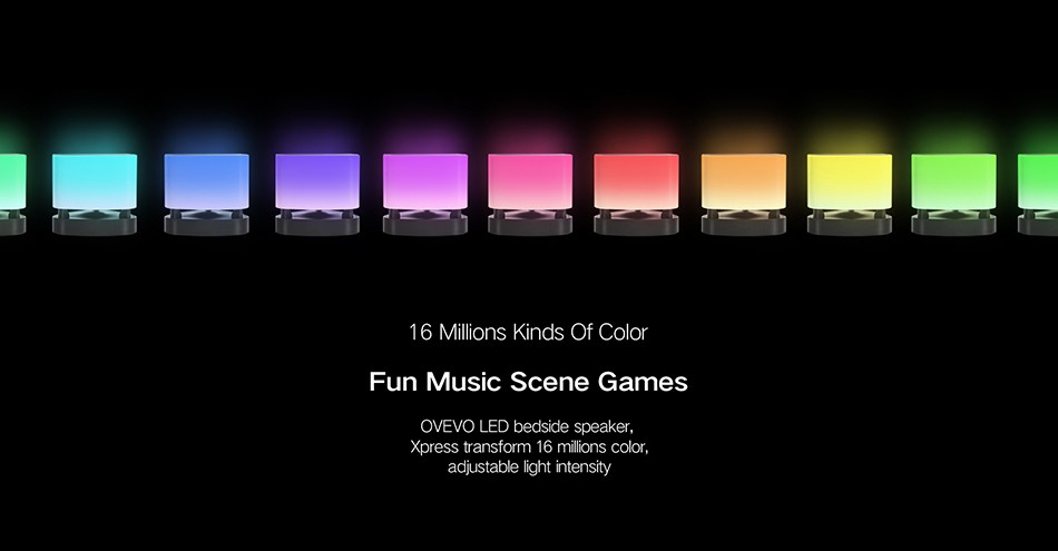 OVEVO FANTASY PRO Z1 SMART FOCUS LED SPEAKER LIGHT INTELLIGENT MULTI-COLOR LED TOUCH CONTROL LAMP BLUETOOTH 4 3