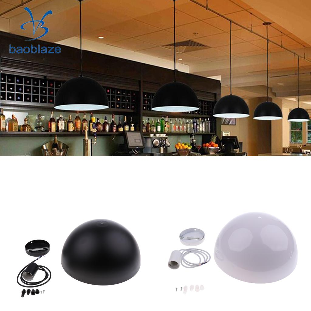 Easy Fit Modern Retro Domed Metal Ceiling Pendant Light Shade Lampshade Vintage