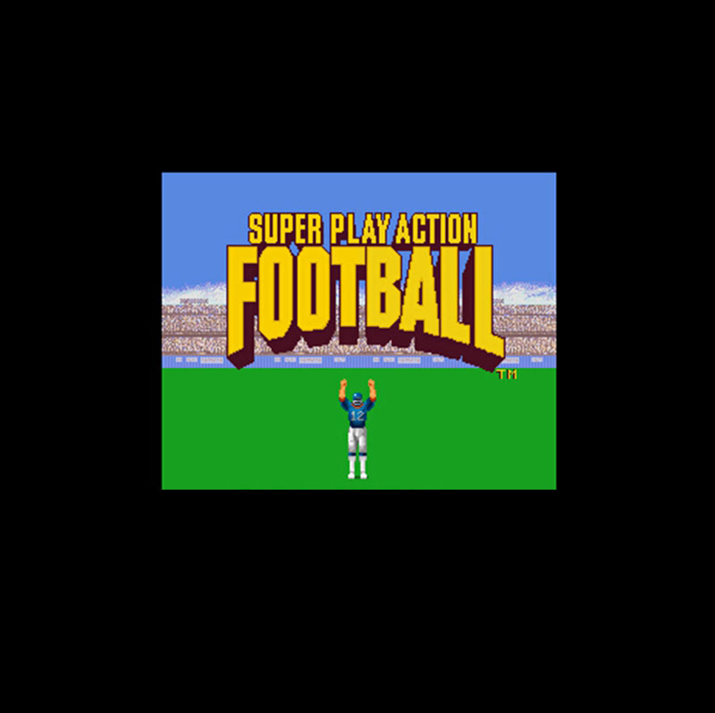 Super Play Action Football 16 Bit Big Gray Game Card For