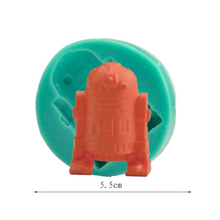 Star Wars DIY Molde de La Torta 1 unids de Silicona Molde de La Torta Herramient