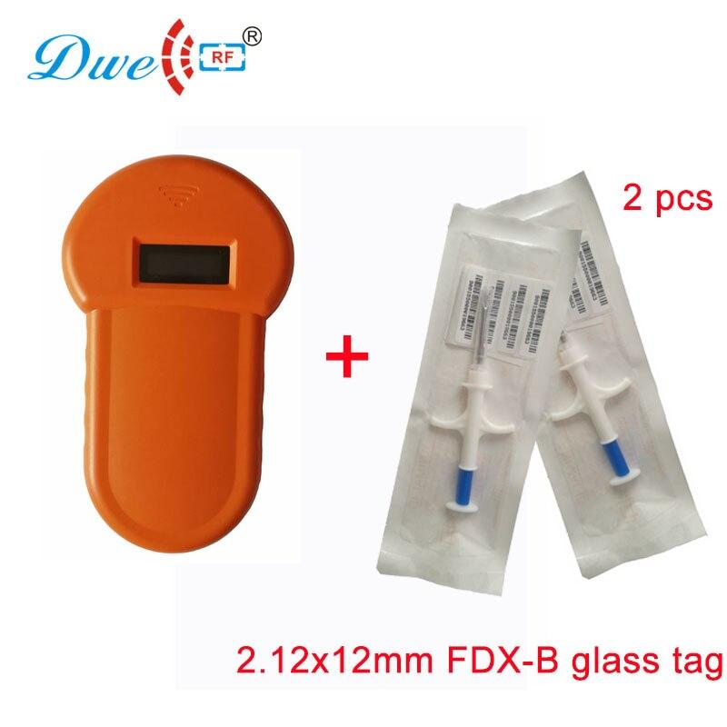 DWE CC RF animal pets tracking reader ISO11784 FDX-B bio-compatible glass encapsulated microchip reader