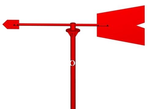 [BELLA] chaussette à vent en métal avec girouette pétrochimique spécial diamant rouge ventes spéciales (palette en métal + stent 1.2 M)