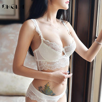 New Lace Bra Sets Plus Size 36 38 40 Ultrathin Sexy Underwear Set Women Cotton Comfortable