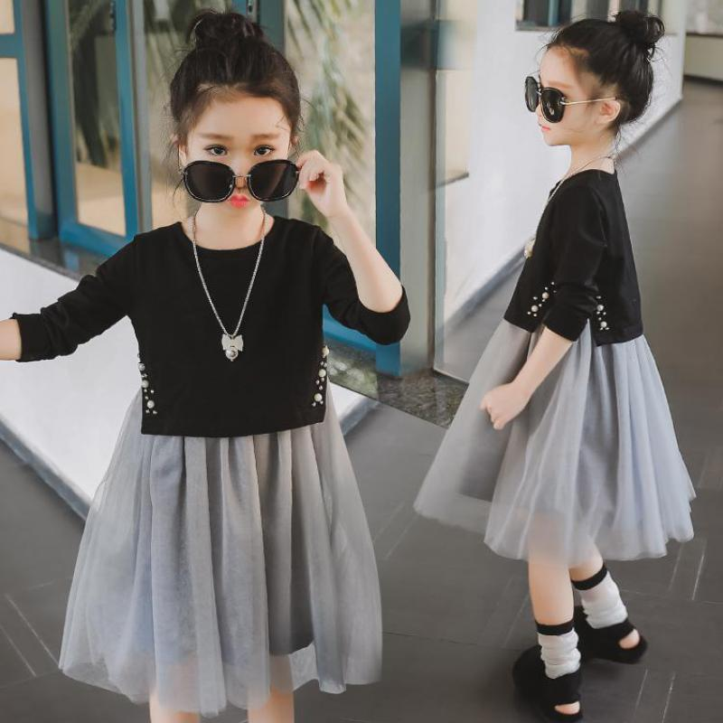 2017 New Girls Dress Princess Dresses For Girls Vestido Infantil Autumn Fashion Design Kids Clothes Tutu Dress 10 11 12 13 14 T