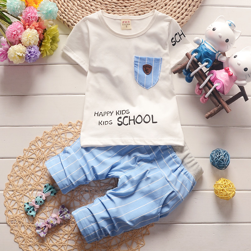 Boys Clothes Sets Summer Cotton Baby Boys T-Shirt + Shorts 2 Pcs Suit Kids Clothes Children Toddler Boys Clothing Roupa Infantil