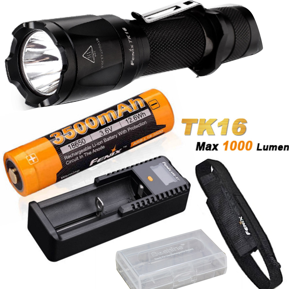 все цены на Fenix TK16 1000 Lumens Cree XM-L2 (U2) LED tactical Flashlight with ARB-L18-3500 18650 Battery ,ARE-X1+ charger,battery case