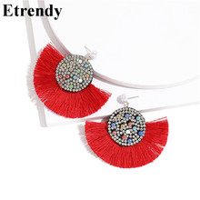 Boho Fringe Tassel Earrings 2019 New Colorful Handmade Statement Femme Ethnic Jewelry Red Black