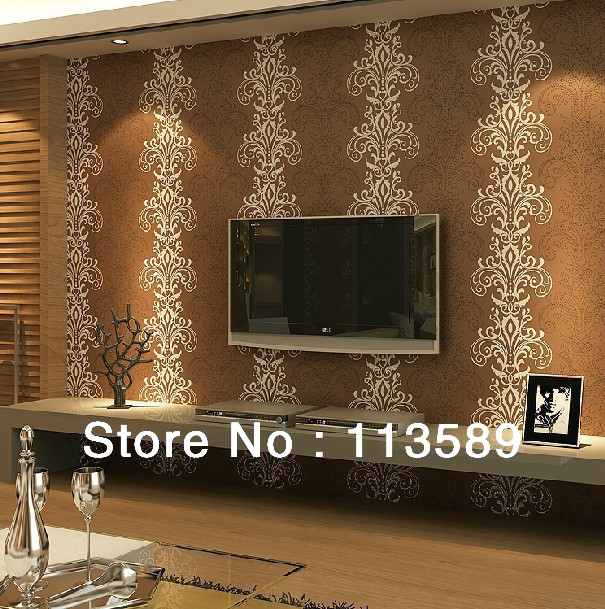 Bedroom Living Room Wallpaper TV Background Non Woven Vintage Wall Paper Free Ship