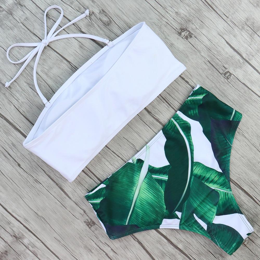 HTB1ZLffa6nuK1RkSmFPq6AuzFXao Print Swimwear Women Swimsuit High Waist Brazilian Bikini 2019 Sexy Off Shoulder Bikinis Set Beachwear Maillot De Bain Femme