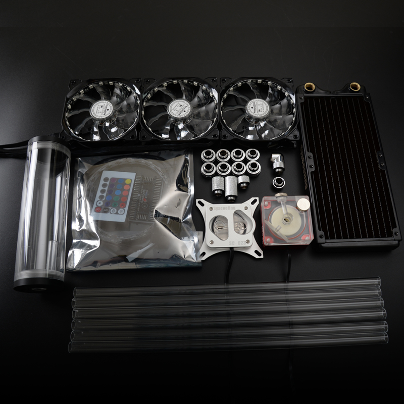 все цены на Syscooling colorful control system hard tube liquid cooling kit CPU water cooling radiator онлайн