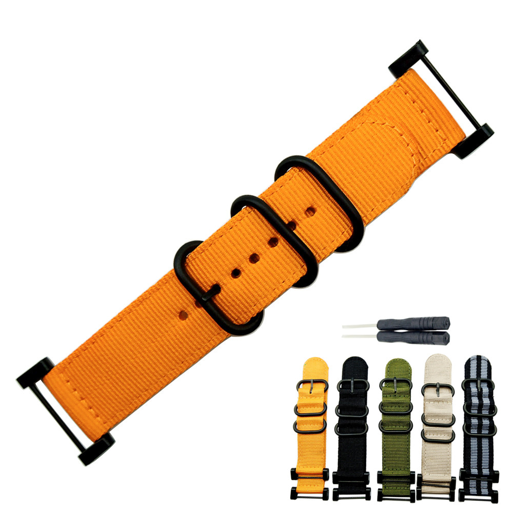 Watch band 24mm Width Military color outdoors watch strap replaced Nylon with Connector linker for RangeRidgeAltay North EdgeWatch band 24mm Width Military color outdoors watch strap replaced Nylon with Connector linker for RangeRidgeAltay North Edge