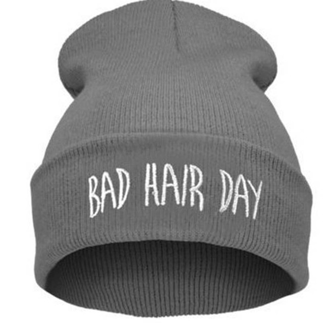 femmes hommes chapeaux bad hair day beanie chapeaux d 39 hiver tricot bonnet femme gorros mujer. Black Bedroom Furniture Sets. Home Design Ideas
