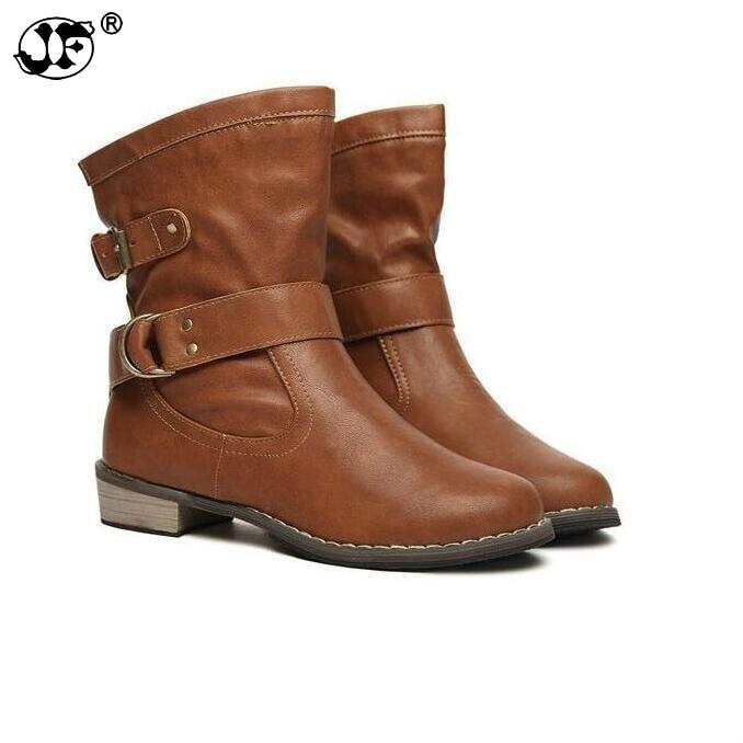 c7c7c58b8 2019 de las mujeres de la moda botas de mujer primavera y otoño de las  mujeres es Martin botas planas Vintage Zip cadenas Tacón cuadrado botas de  ...