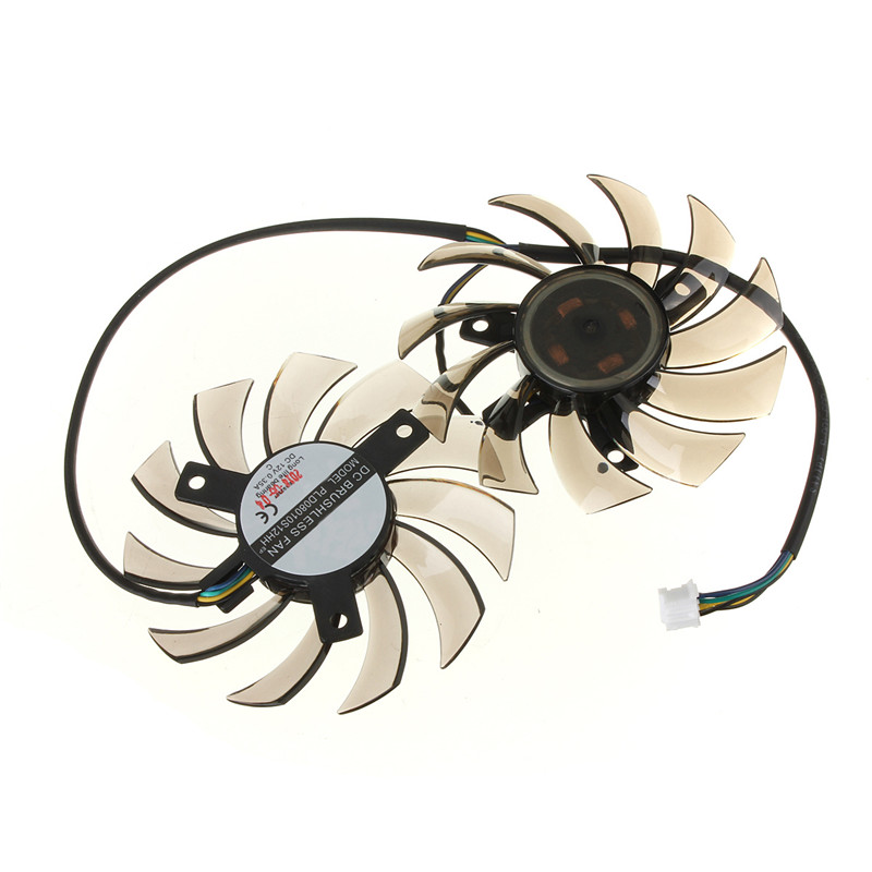 75MM PLD08010S12HH Graphics Video Card Cooling Fan 12V 0.35A Twin For Frozr II 2 MSI R6790 N560GTX R6850 N460GTX Dual Cooler Fan 75mm pld08010s12hh graphics video card cooling fan 12v 0 35a twin for frozr ii 2 msi r6790 n560gtx r6850 n460gtx dual cooler fan
