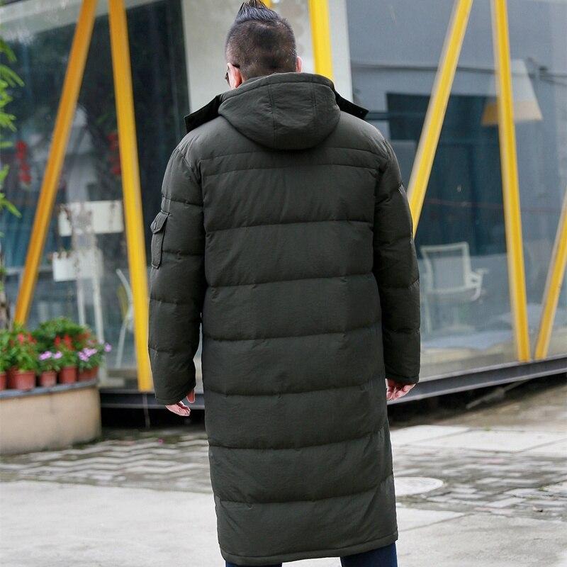 Chaqueta Extra grande sobre la rodilla para hombre más fertilizante para aumentar el grosor de la sección larga frío abrigo 10XL 9XL 8XL-in Plumíferos from Ropa de hombre    3